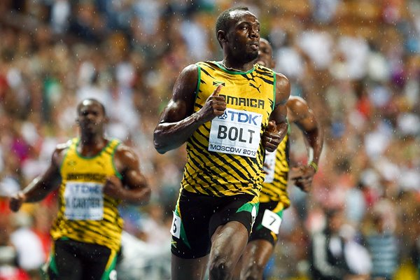 Usain Bolt 100m Champion World Athletics Moscow 2013