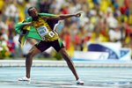 Lightning Bolt 2013 - Usain Bolt 100m Gold Moscow 2013 Prints