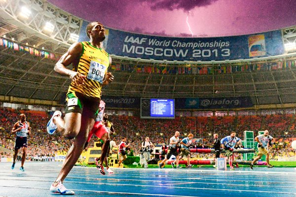 """Usain Lightning Bolt"" World Athletics Moscow 2013"