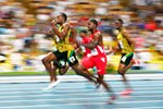 100m Final Usain Bolt wins World Championship Moscow 2013  Prints