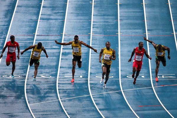Usain Bolt wins World Championship Gold 100m Moscow 2013