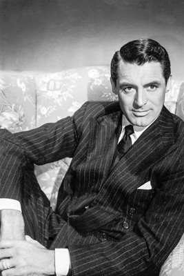 Portrait of Cary Grant in chair