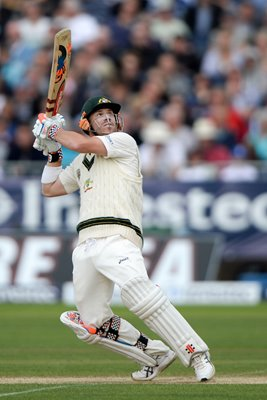 David Warner Australia bats 4th Ashes Test Durham 2013