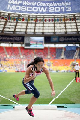 Katarina Johnson-Thompson Heptathlon Shot Put Moscow 2013