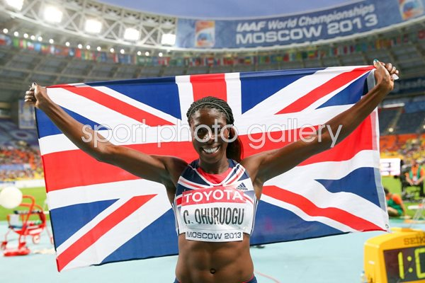 Christine Ohuruogu 400m World Champion Moscow 2013