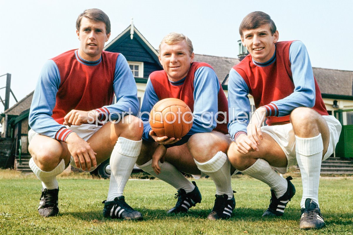 Hurst, Moore And Peters West Ham 1966