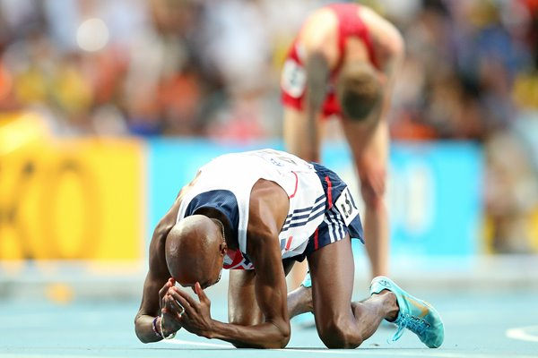 Mo Farah completes 5,000m and 10,000m World Double 2013