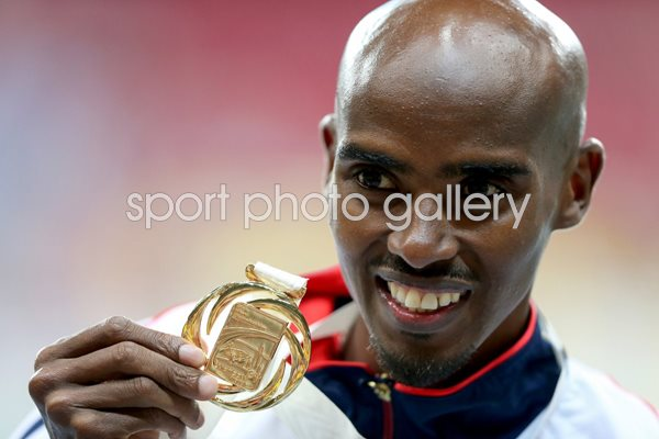 Mo Farah Double Gold World Athletics Moscow 2013