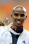 Mo Farah World 5,000m Champion Moscow 2013 Prints