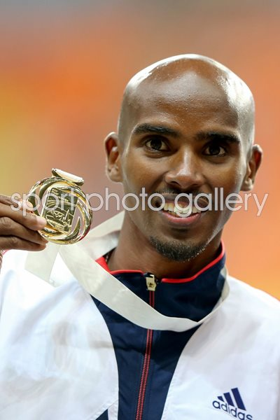 Mo Farah World 5,000m Champion Moscow 2013