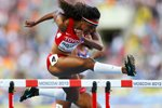 Brianna Rollins World Athletics Hurdles Moscow 2013  Prints