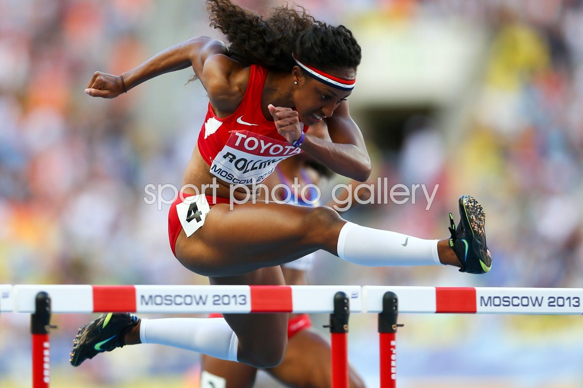 Brianna Rollins World Athletics Hurdles Moscow 2013