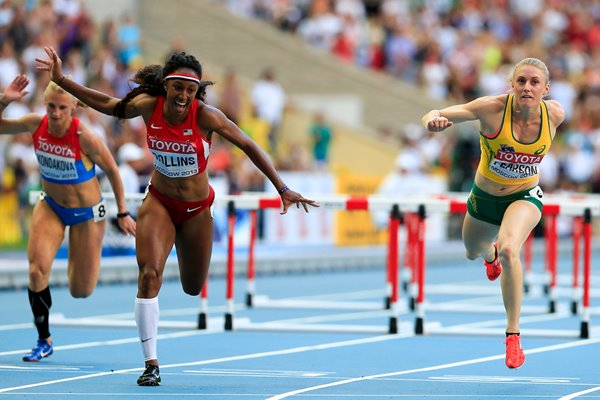 Sally Pearson & Brianna Rollins Hurdles Worlds Moscow 2013