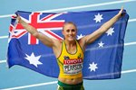 Sally Pearson 100m Silver Hurdles Worlds Moscow 2013 Mounts