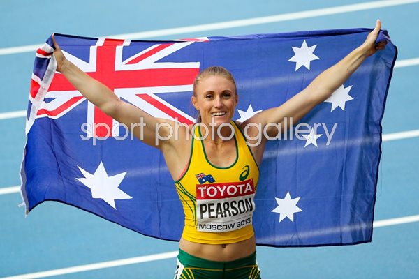 Sally Pearson 100m Silver Hurdles Worlds Moscow 2013