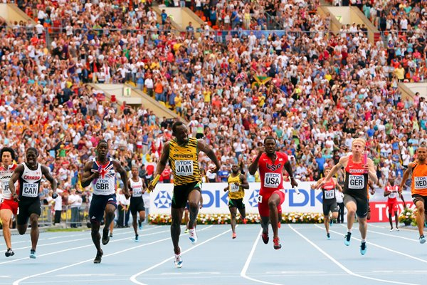 Usain Bolt Jamaica Relay Gold Worlds Moscow 2013