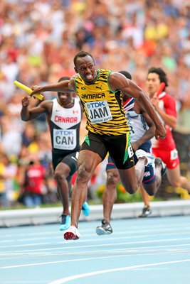 Usain Bolt wins Relay World Championship Gold Moscow 2013