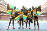 Jamaica 4x100m relay winners World Athletics Moscow 2013  Prints