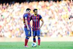 Lionel Messi and Xavi Hernandez Prints