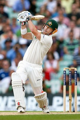 David Warner Australia bats 5th Ashes Test Oval 2013