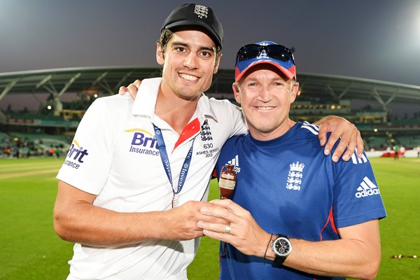 Alastair Cook & Andy Flower England Ashes Oval 2013