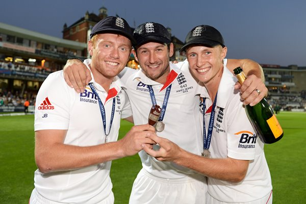 Yorkshire's England Ashes Heroes Root, Bresnan and Bairstow 2013