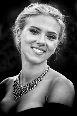 Actress Scarlett Johansson smiles