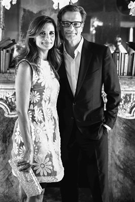 Livia Firth and Colin Firth 2013