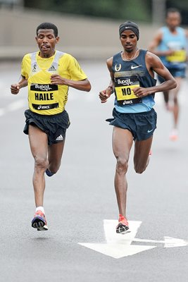 Haile Gebrselassie & Mo Farah Great North Run 2013