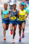Kenenisa Bekele, Mo Farah, Haile Gebrselassie Great North Run 2013 Prints