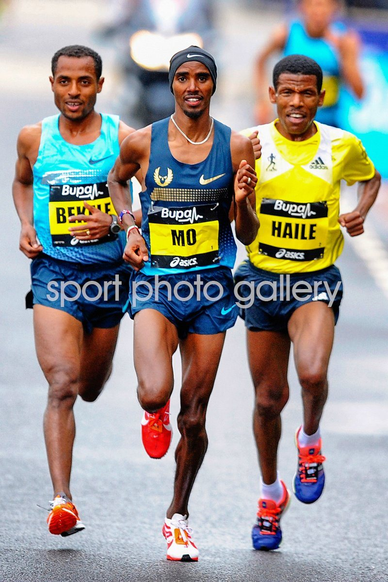 Kenenisa Bekele, Mo Farah, Haile Gebrselassie Great North Run 2013