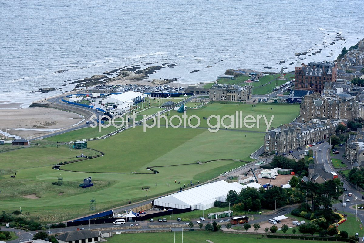 Aerial view of The Old Course and St Andrews 2013