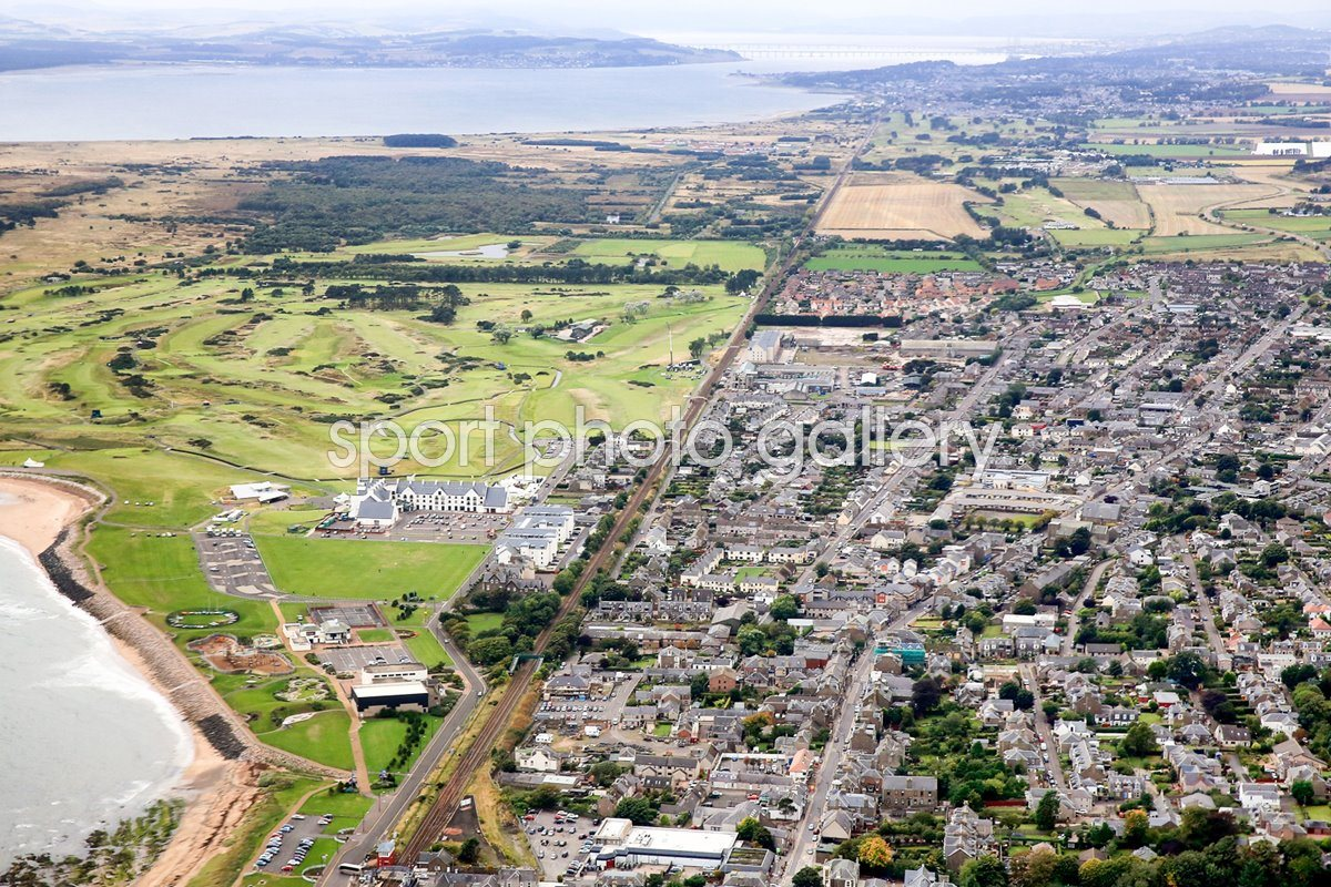 Carnoustie Golf Club and Town Aerial View 2013
