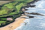 Aerial view of the course at Kingsbarns Dunhill L:inks 2013 Prints