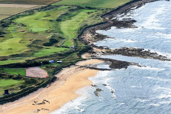 Aerial view of the course at Kingsbarns Dunhill L:inks 2013