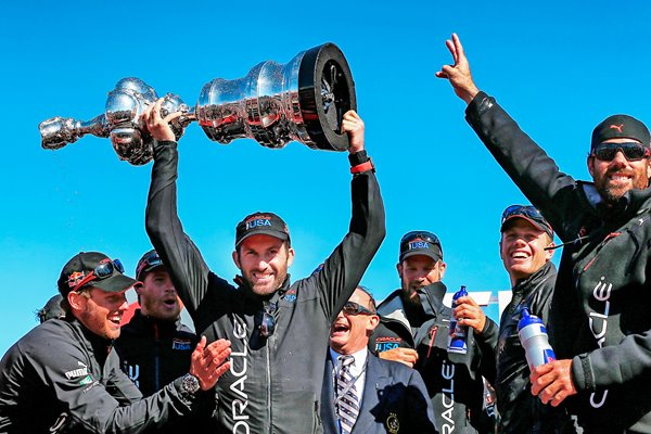 Sir Ben Ainslie Team USA lifts America's Cup San Francisco 2013