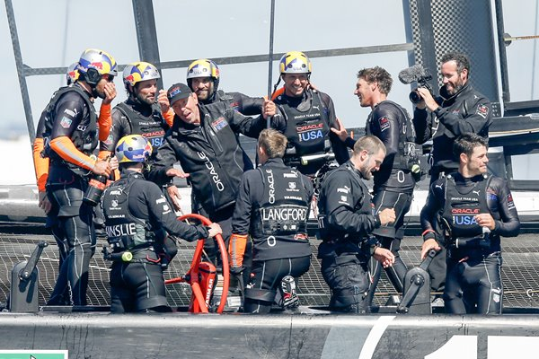 James Spithill and Oracle Team USA America's Cup winners 2013