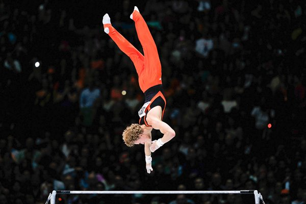Epke Zonderland Holland World High Bar Champion Belgium 2013