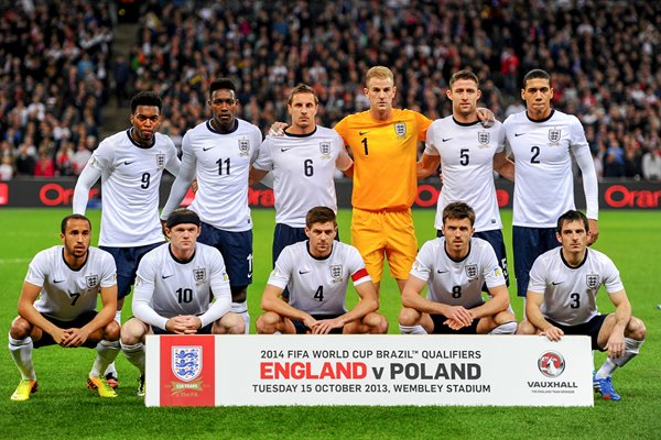 England team v Poland World Cup Qualifier Wembley 2013