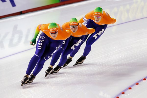 Netherlands Women's Pursuit Long Track Speed Skating 2013