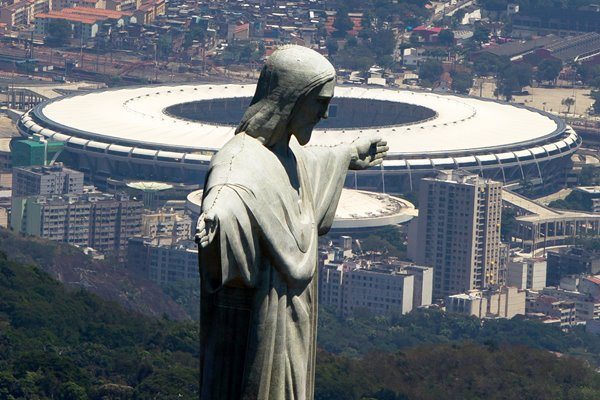 Christ The Redeemer and Maracana Stadium Brazil