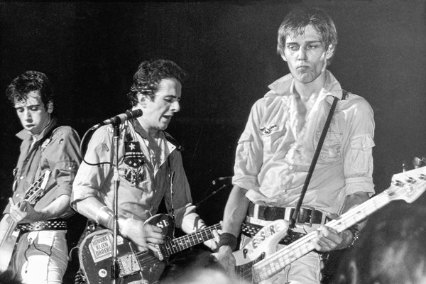 The Clash on stage