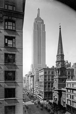 Empire State Building And Fifth Avenue in 1920's