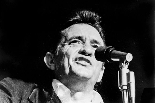 Johnny Cash on stage