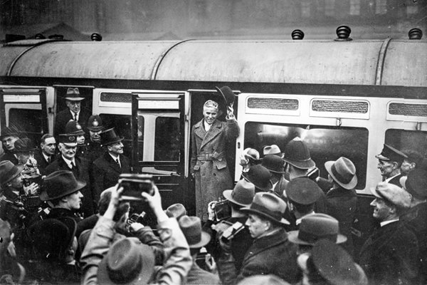 Charlie Chaplin Arriving Home 1931