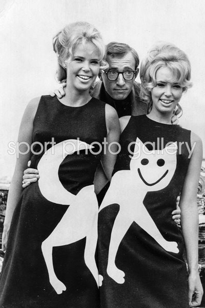 Woody Allen with the Croft twins 1965
