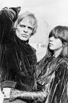 Klaus Kinski with his third wife Frames