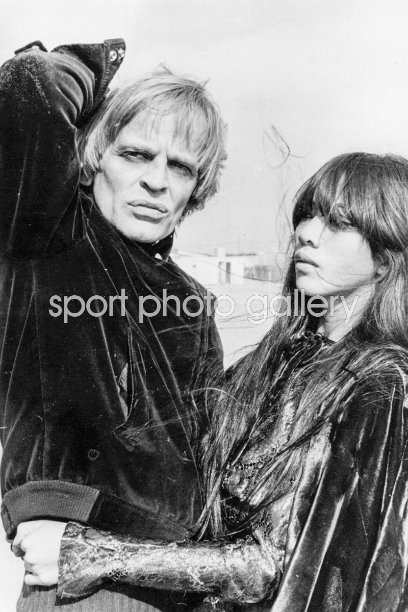 Klaus Kinski with his third wife