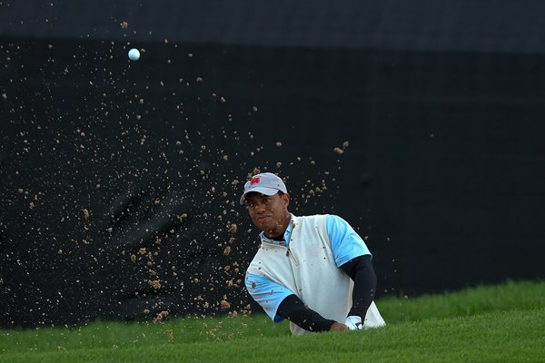 Tiger Woods Bunker Action - 2010 Ryder Cup