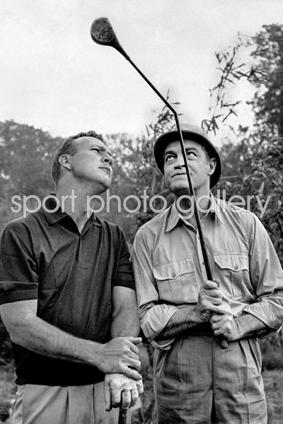 Arnold palmer and bob hope film set london 1962